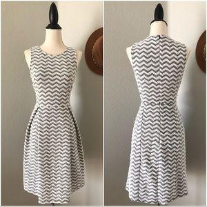 Stitch Fix 41 Hawthorn Chevron Fit and Flare Dress